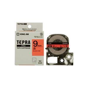 (業務用50セット)キングジムテプラPROテープSC9R赤に黒文字9mm×50セット