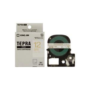 (業務用50セット)キングジムテプラPROテープST12Z透明に金文字12mm×50セット