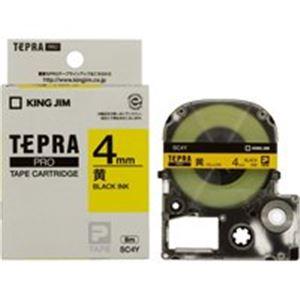 (業務用50セット)キングジムテプラPROテープSC4Y黄に黒文字4mm×50セット