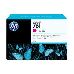 (まとめ)HP761インクカートリッジマゼンタ400ml染料系CM993A1個【×3セット】