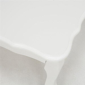 折れ脚テーブル(折りたたみローテーブル)木製幅100cm×奥行60cm猫足/姫系MT-6031WHホワイト(白)【】