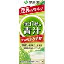 【ケース販売】伊藤園 豆乳でまろやか 毎日1杯の青汁 紙パック 200ml×【48本セット】