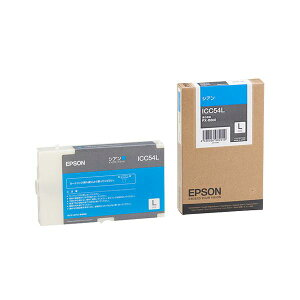 (まとめ)エプソンEPSONインクカートリッジシアンLサイズICC54L1個【×3セット】