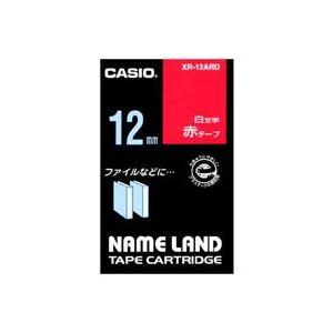 (業務用50セット)カシオCASIOラベルテープXR-12ARD赤に白文字12mm×50セット