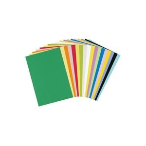 (業務用30セット)大王製紙再生色画用紙/工作用紙【八つ切り100枚×30セット】ぐんじょう