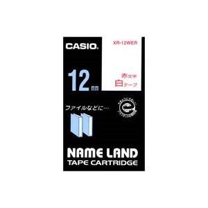 (業務用50セット)カシオCASIOラベルテープXR-12WER白に赤文字12mm×50セット