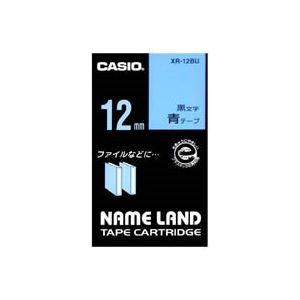 (業務用50セット)カシオCASIOラベルテープXR-12BU青に黒文字12mm×50セット