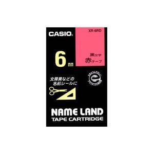 (業務用50セット)カシオCASIOラベルテープXR-6RD赤に黒文字6mm×50セット