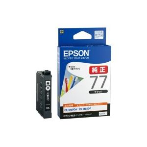(業務用50セット)エプソンEPSONインクカートリッジICBK77ブラック×50セット