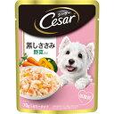 (まとめ)シーザー 蒸しささみ 野菜入り 70g (ペット用品・犬フード)【×160セット】