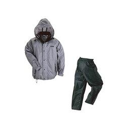 (まとめ)川西工業 レインウェア(男女兼用)雨職人 グレー Lサイズ 3530-GR-L 1着【×3セット】