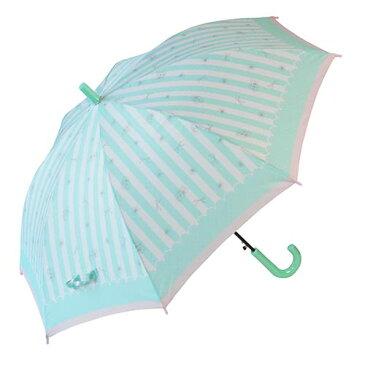 55cm子供傘JP ストライプリボン緑