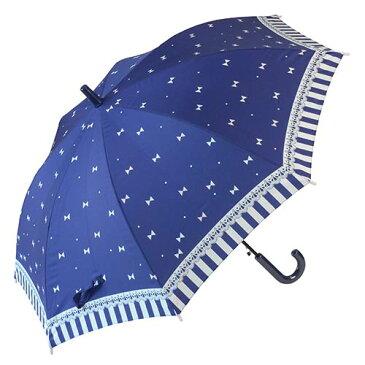 55cm子供傘JP チェリーリボン 紺