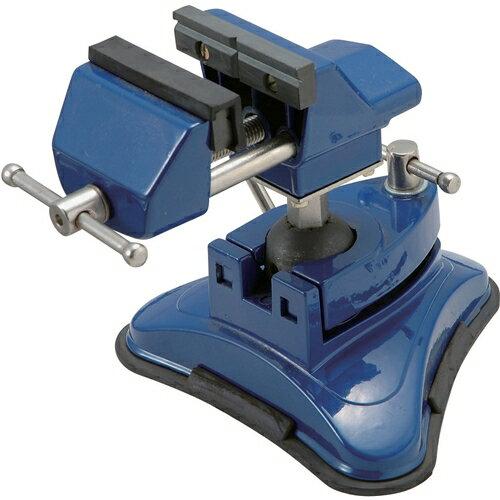 作業工具・クランプ・バイスの特殊バイスV-4。アルミ合金製で軽量ですテーブルに取りつけ簡単なワンタッチバキューム式。アングルが自