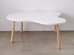 センターテーブルローテーブルクルリビングテーブルLサイズホワイト()【送料無料】【smtb-f】