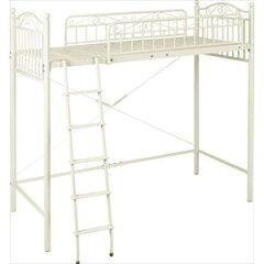 可愛いデザインで、ベッド下を有効活用できるロフトベッド。ロフトベッド KH-3518MB-IV (代引き...
