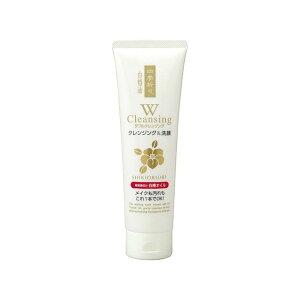 熊野油脂 四季折々 白椿油Wクレンジング洗顔フォーム(代引不可)