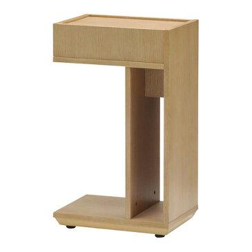 サイドテーブル 幅25cm キャスター付き オーク ウォールナット ナイトテーブル マルチテーブル シンプル おしゃれ 北欧(代引不可)【送料無料】【smtb-f】