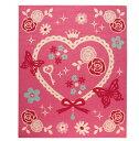 デスクカーペット 女の子 エハート柄 『キャリー ツー』 ピンク 133×170cm(代引不可)【送料無料】