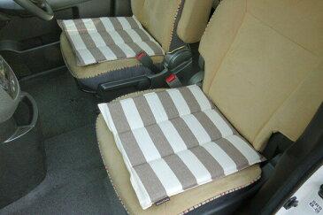 車用クッション カークッション クッション ベーシック ボーダー 綿100% インド綿 ロカ フリーシート ベージュ 約45×118cm(代引不可)【送料無料】【smtb-f】