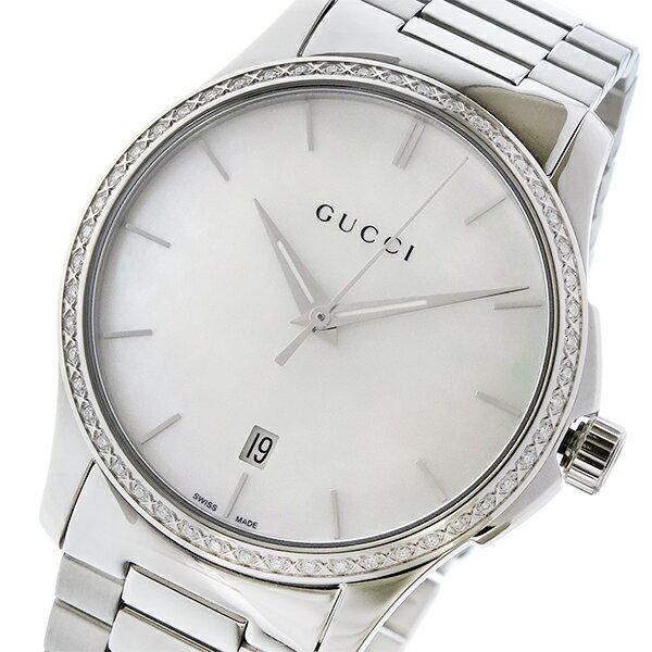 グッチ GUCCI Gタイムレス G-TIMELESS クオーツ レディース 腕時計 YA126444 シェルホワイト:リコメン堂生活館