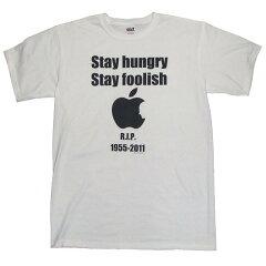 【送料無料】【スティーブジョブス】 Tシャツ Stay Hungry Stay Foolish/ホワイト【アーティス...