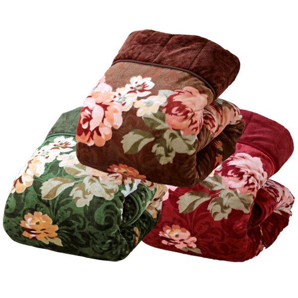 3枚合わせ毛布 3色組 5層構造 ふっくら あったか ボリューム満点(代引不可)【送料無料】【S1】