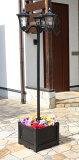 プランター付きソーラーライト 3灯 ソーラーライト プランター付き 屋外 外灯 街灯(代引不可)【送料無料】
