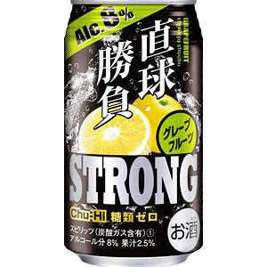 合同酒精 直球勝負 ストロング グレープフルーツ 350ml×24本(代引き不可)【送料無料】
