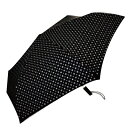 【UVION】 新型自動開閉54 ラクローズ 小紋ブラック 7642 傘 折りたたみ傘 雨傘 日傘 兼用(代引不可)【送料無料】