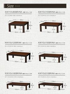 家具調こたつテーブル本体【正方形/幅80cm】ナチュラル『KIKYOU』木製継ぎ足付き桔梗80NA【】