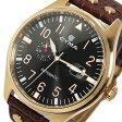 シーマ CYMA 自動巻き メンズ 腕時計 時計 CS-1001-RG ブラック/ブラウン【楽ギフ_包装】