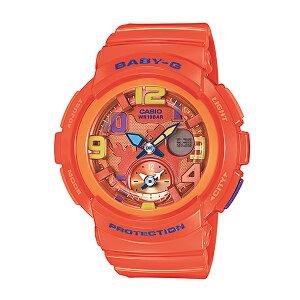 カシオベビーGビーチトラベラーシリーズレディース腕時計時計BGA-190-4Bオレンジ【_包装】