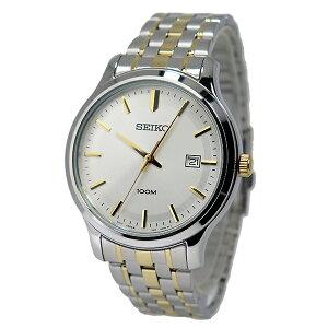 セイコーSEIKOクオーツメンズ腕時計時計SUR147P1シルバー/ゴールド【_包装】