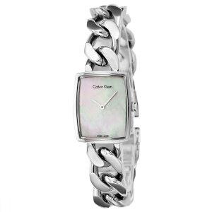 カルバンクラインアメーズクオーツレディース腕時計時計K5D2L12Eホワイトパール【_包装】