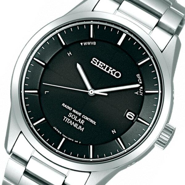 セイコー SEIKO スピリット ソーラー メンズ 腕時計 SBTM211 ブラック 国内正規【楽ギフ_包装】【S1】:リコメン堂生活館