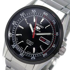 セイコーSEIKO5スポーツ自動巻きメンズ腕時計時計SNZH19J1ブラック【_包装】