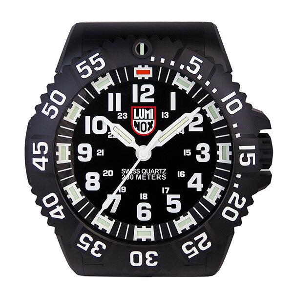 ルミノックス 腕時計風 LED発光 掛け時計 WALL-CLOCK-BIG40 ブラック【S1】:リコメン堂生活館