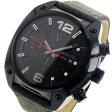 ディーゼル DIESEL オーバーフロー メンズ クオーツ クロノ 腕時計 時計 DZ4373 ブラック【楽ギフ_包装】