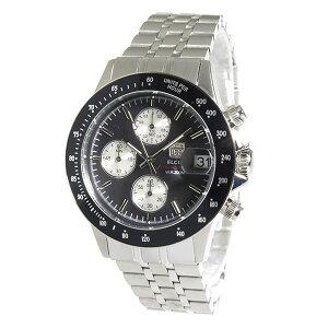 エルジンELGINクロノクオーツメンズ腕時計時計FK1408S-BNブラック【_包装】