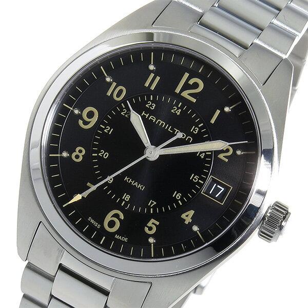 ハミルトン カーキフィールド クオーツ メンズ 腕時計 H68551133 ブラック【楽ギフ_包装】【S1】:リコメン堂生活館