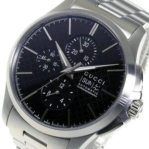 グッチGUCCIGタイムレスクロノ自動巻きメンズ腕時計YA126264ブラック【送料無料】【_包装】