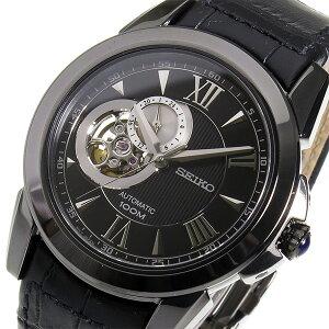 セイコールグランスポーツ自動巻きメンズ腕時計時計SSA243ブラック【_包装】