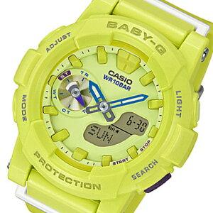 カシオベビーGフォーランニングクオーツレディース腕時計時計BGA-185-9Aイエロー【_包装】