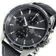 カシオ CASIO エディフィス クロノ クオーツ メンズ 腕時計 時計 EFR-512L-8AV ブラック【楽ギフ_包装】