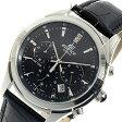 カシオ CASIO エディフィス クロノ クオーツ メンズ 腕時計 時計 EFR-517L-1AV ブラック【楽ギフ_包装】
