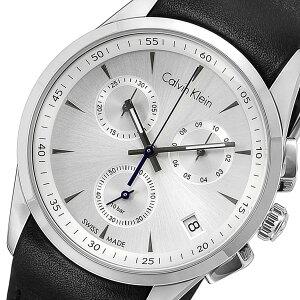 カルバンクラインCalvinKleinクロノクオーツメンズ腕時計時計K5A271C6シルバー【_包装】