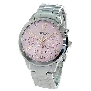 セイコーSEIKOクロノルキアクオーツレディース腕時計時計SRW829P1ピンク【_包装】