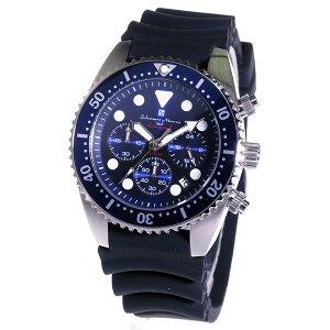 サルバトーレマーラクロノクオーツメンズ腕時計時計SM16104-SSBLBLブルー【_包装】