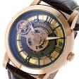 ジョンハリソン JOHN HARRISON 両面スケルトン 自動巻き メンズ 腕時計 時計 JH-041PB ピンクゴールド/ブラウン【楽ギフ_包装】